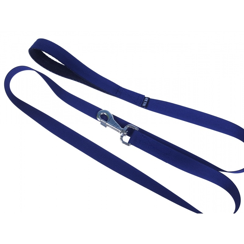 Navy leash 1.65m hook silver