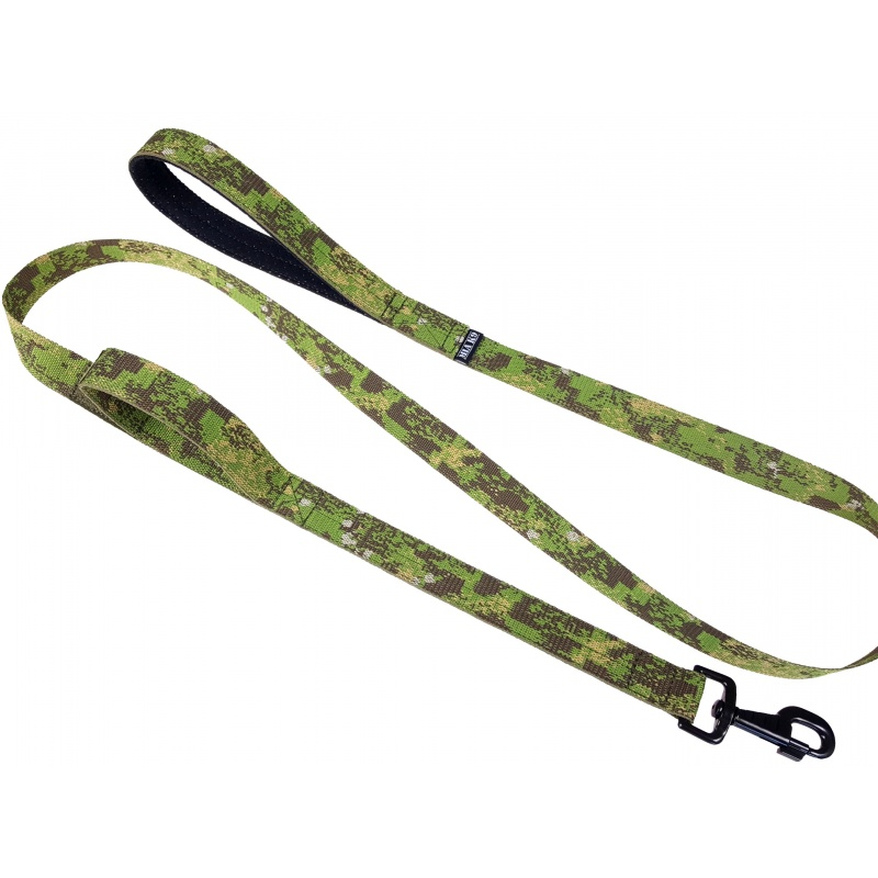 P. Greenzone double handle leash 1.65m hook black