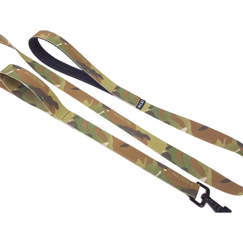 Multicam leash double handle 1.65m hook silver