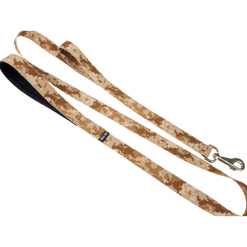 Digi Desert leash double handle 1.65m hook silver