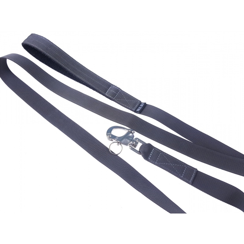 Charcoal leash 1.65m shackle