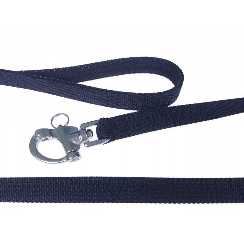 Black 2.2mm thick tactical leash