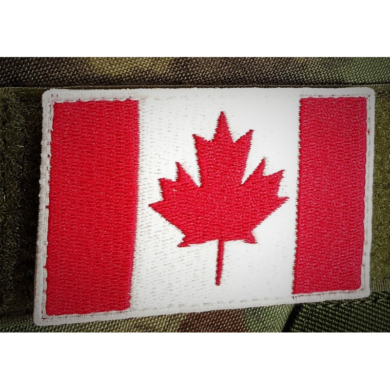 Embroidered Canada Flag Patches
