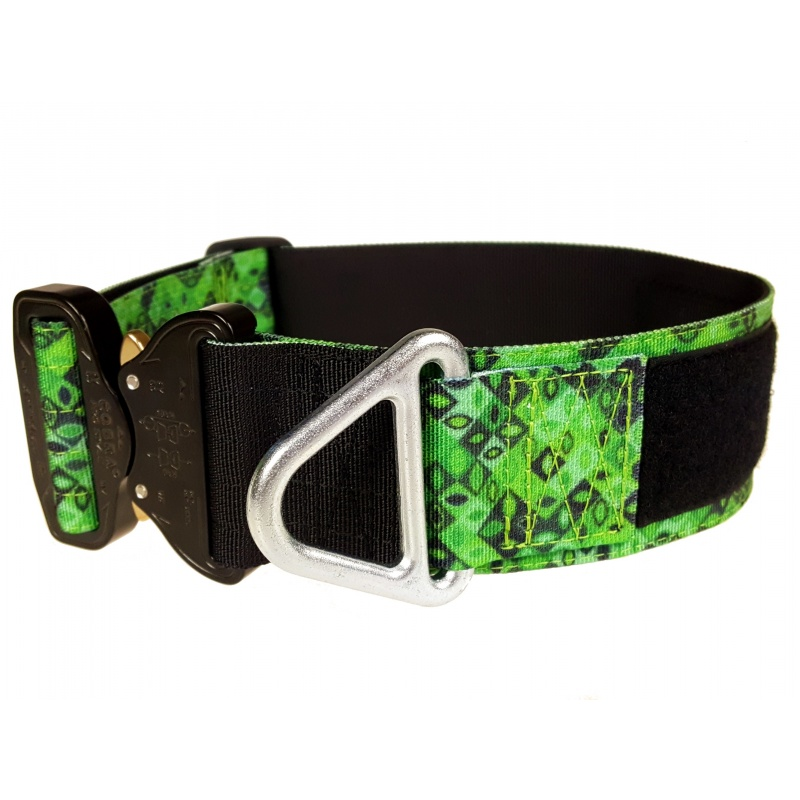 Tactical Flat Collar, Jade Mosaic, 50 mm/ 2 inch wide, Cobra buckle