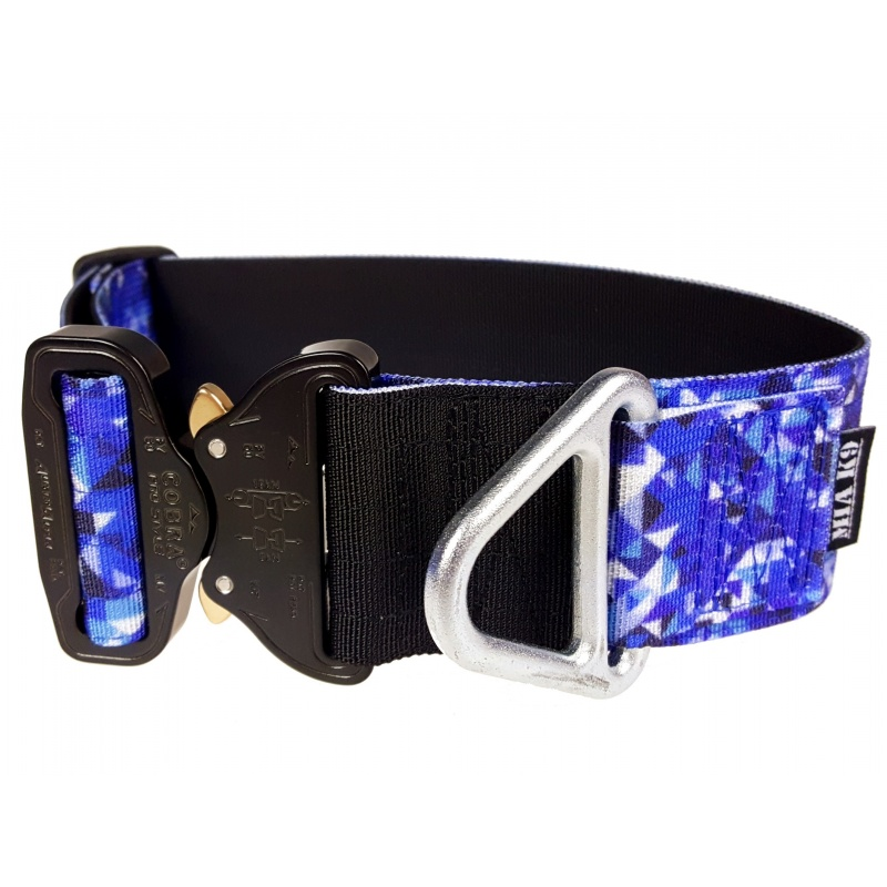 Tactical Flat Collar, Crystal Shards, 50 mm/ 2 inch wide, Cobra buckle