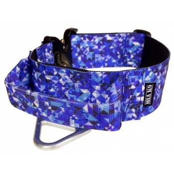 Tactical Dog Collar, Crystal Shards, 50mm/2inch wide, Cobra buckle