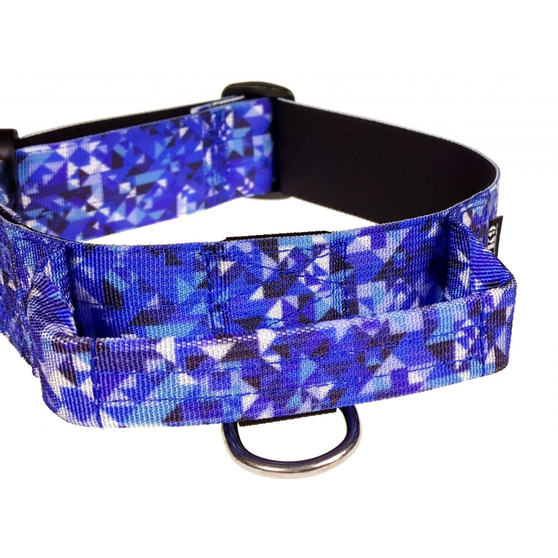 Tactical Dog Collar, Crystal Shards, 50mm/2inch wide, plastic ITW NEXUS buckle