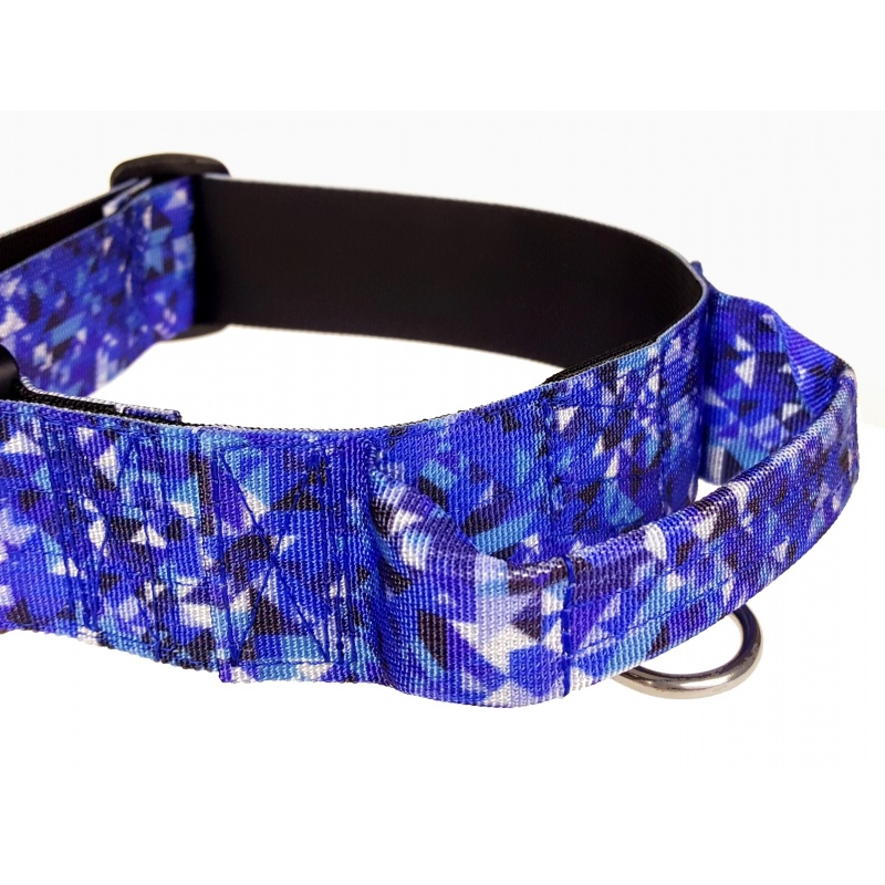 Tactical Dog Collar, Crystal Shards, 40mm/1.5inch wide, plastic ITW NEXUS buckle