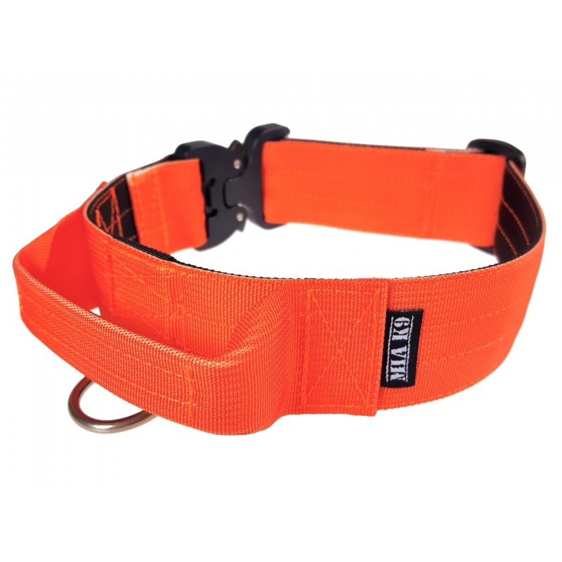 Tactical Dog Collar, 40mm/1.5inch wide, Cobra buckle, orange