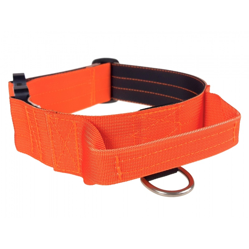Tactical Dog Collar, 40mm/1.5inch wide, plastic ITW NEXUS buckle, orange