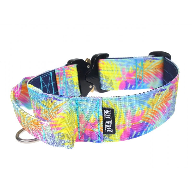 Tropical Vibes! Tactical Dog Collar 40mm/1.5inch wide