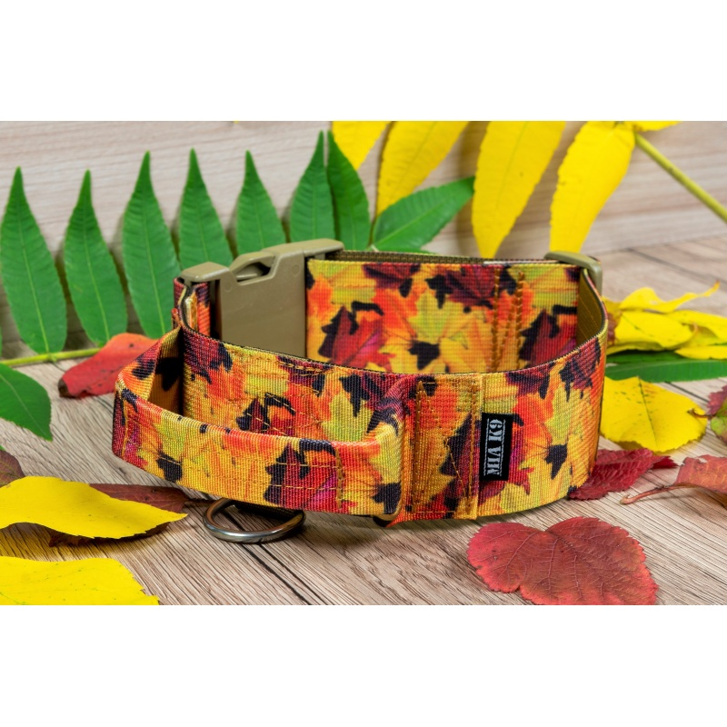 Fallen Leaves Tactical Dog Collar 50mm/2inch wide