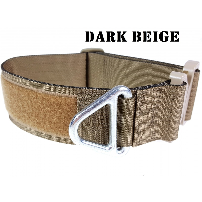 Tactical Flat Collar, solid colours, 50 mm/ 2 inch wide, Cobra buckle