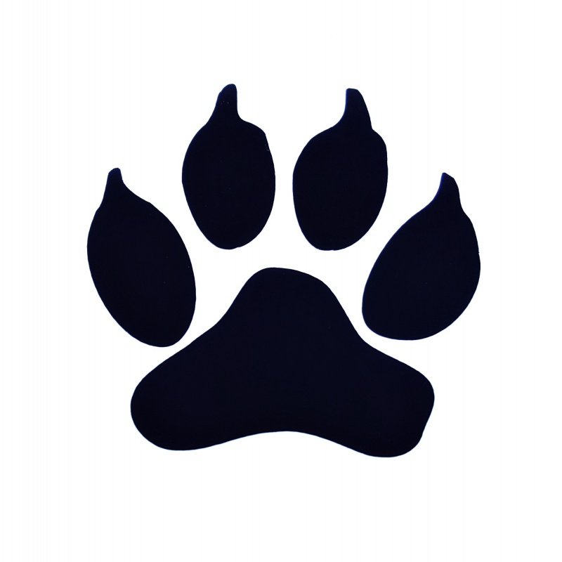 Dog Pawprint Decal, Car and Wall