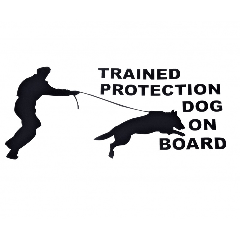 Huge! 12.5 inch long Dog On Board decal