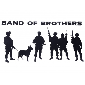 Huge! 12.5inch long Military decal, Band of Brothers