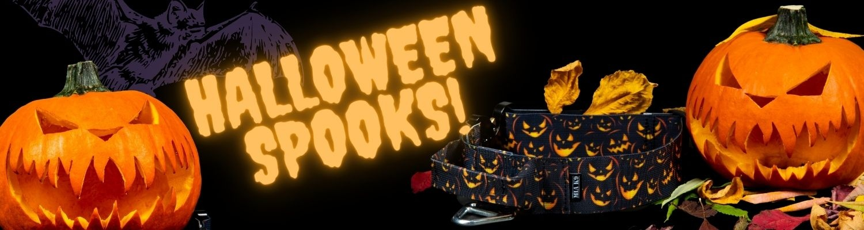 Halloween spooks dog collar